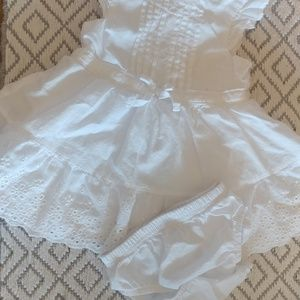 Infant girl white dress